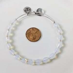 Alex and Ani Silver Serenity Pearl Beaded Bracelet
